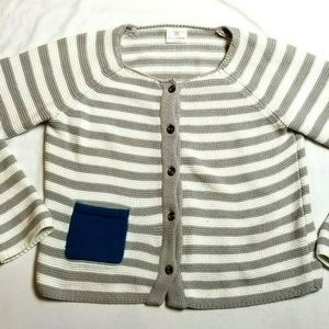 Hanna Andersson sweater 160 striped boys 14/16
